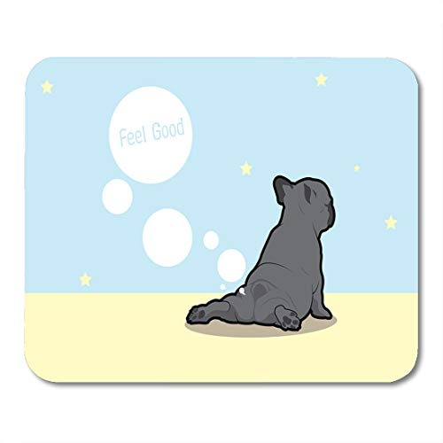 Bulldogs Desktop - Nakamela Mouse Pads Brown Balloons Black Butt French Bulldog Yoga Fart Style Blue Animal Gray Beach Mouse mats 9.5