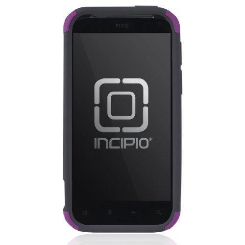 Silicrylic Incipio Silicone (Incipio HT-226 HTC Rezound SILICRYLIC Hard Shell Case with Silicone Core - 1 Pack - Retail Packaging - Dark Purple/Dark Gray)