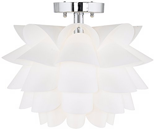 מוצר Possini Euro Design White Flower 15 3 4 Quot Wide