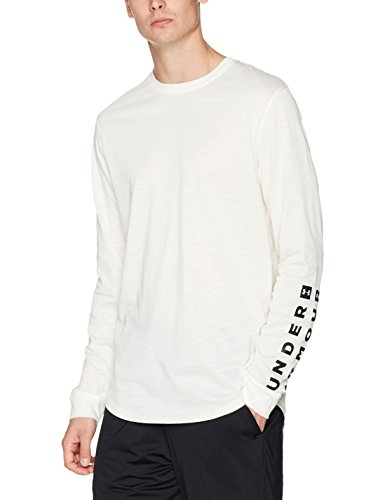 Under Armour Mens Sportstyle Long Sleeve Graphic Tee,Ivory /Black, XX-Large