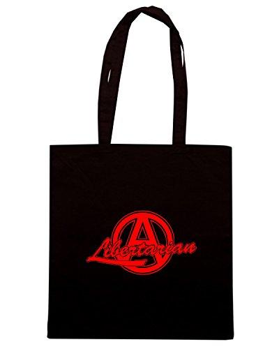 T-Shirtshock - Bolsa para la compra TCO0094 libertarian anarchy Negro