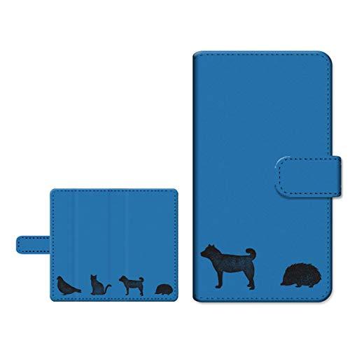 ヶ月目荒れ地放棄TONE e19 トーン e19 対応 TONEモバイル スライドタイプ 内側カラー:ブラウン 手帳型ケース アニマル(type003)