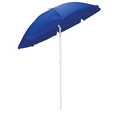 Picnic Time Portable 5.5 Foot Canopy Outdoor Umbrella, Navy