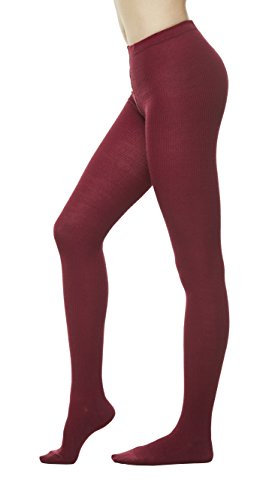 Womens Winter Sweater Footed Tights