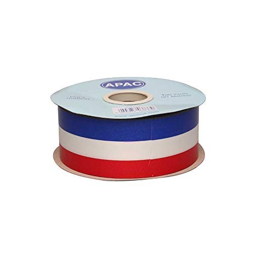 Floristrywarehouse Tri-Colour Poly Florist Ribbon 2 Inches Wide x 100yds Red White Blue