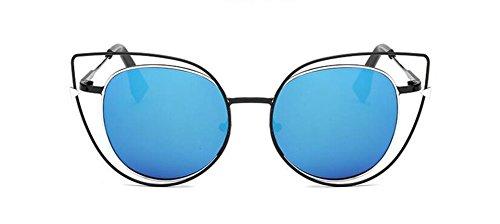 de Pour Steampunk Cercle Rond Style Soleil Inspirées Polarisées Femmes Hommes Mercure Métallique Retro Bleu Lunettes et en du H7dqHw