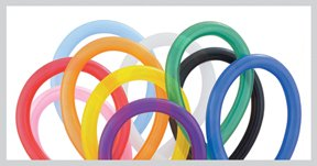 Qualatex 260Q Balloons - Assorted Color Twisty Balloons - 25