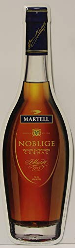 Martell Noblige Cognac Metal Sign die Cut Bottle 24 x 7.5