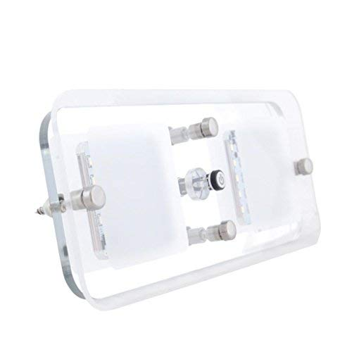 Dream Lighting LED Crystal Double Ceiling Light for Automotive Boat Cabin Indoor Roof Light-with Switch, Warm White