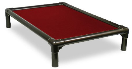 Kuranda Walnut PVC Chewproof Dog Bed - Large (40x25) - Cordura - Burgundy (Best Dog Beds For Chewers)