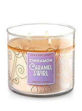 Bath & Body Works Candle 3 Wick 14.5 Ounce Cinnamon Caramel Swirl