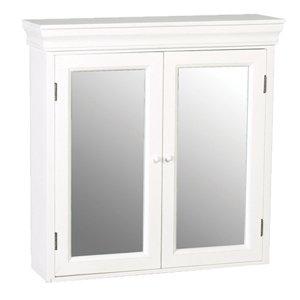 Belgravia French Double Bathroom Mirrored Wall Cabinet White Shabby Chic VEK114