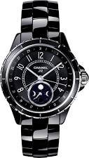 Chanel J12 Black Ceramic Moonphase Unisex Watch H3405
