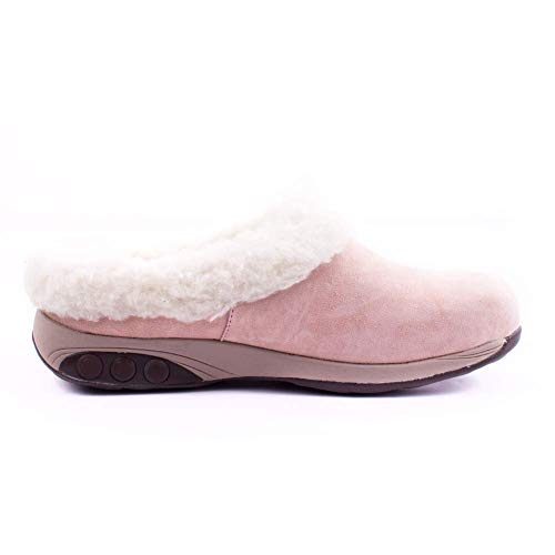 Women's Shearling Clog Slipper Rose Sheepskin Genuine Scarlett OqdSS