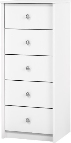 Essential Home Belmont 5 Drawer Lingerie Chest - White by N/A