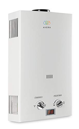 Calentador de agua instantáneo para 1.5 servicios. Gas LP. AVERA C8L