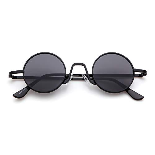 metal con Lente Vintage sol Gafas Gris ovaladas borde fino de Marco Redondo 1 Hombres Street Negro Mujeres de Eyewear ADEWU Style 8pPqAnxTq