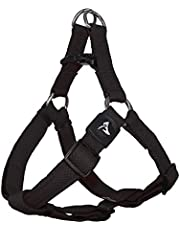 KRUZ PET KZA201-01M Step in Mesh Dog Harness – No Pull, Easy Fit Adjustable Pet Harness – Comfortable, Lightweight Padded Harness for Walking or Training Small, Medium, or Large Dogs, Black, Medium