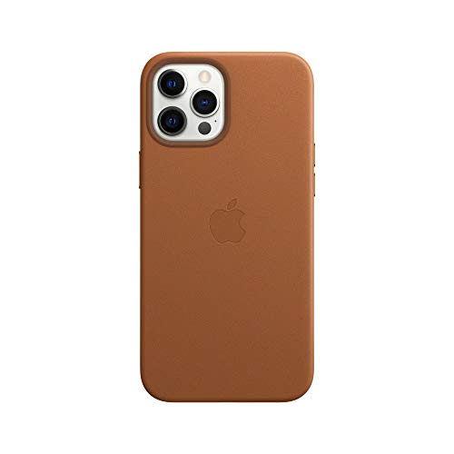 Apple Leather Case with MagSafe (for iPhone 12 Pro Max) – Saddle Brown