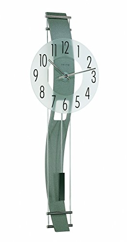 Kennington Frosted Mineral Glass Wall Clock w Curved Back ()