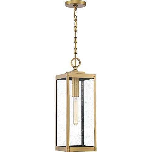 - Quoizel WVR1907A Westover Modern Industrial Outdoor Pendant Ceiling Lighting, 1-Light, 150 Watt, Antique Brass (21
