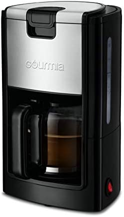 Gourmia GCM1835 10-Cup Automatic Drip Coffee Maker with Extra-Large 40-Ounce Reservoir -One-Touch Brewing – Glass Carafe – Stainless Steel Accents – Reusable Filter – 900 Watts