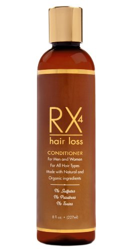 RX 4 Hair Loss Conditioner Natural & Organic Product Anti-Hair Loss Treatment for Men and Women. Guaranteed.FREE Hair Loss - Review Rx Cart