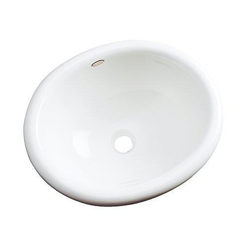 Gentil Dekor Sinks 66000 Costa Cast Acrylic Self Rimming Bathroom Sink, White By  Dekor Sinks