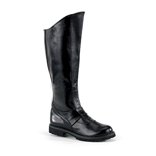 Knee Boot With Inner Zipper Gothic Costume Boots MENS SIZING Black Size: - Boots Gothic Knee