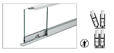 "C.R. LAURENCE S710A36 CRL Satin Anodized 36"" Security Anti-Lift Track Assembly"