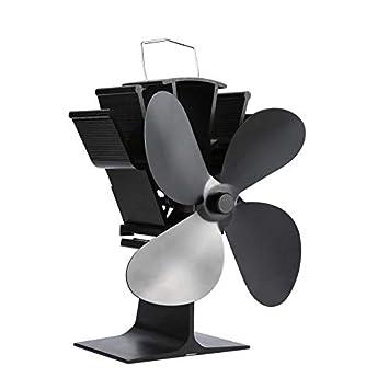 KNOSSOS Ventilador de Chimenea de Potencia térmica Ventilador de Estufa de leña Alimentado por Calor Ventiladores de Cuatro Hojas: Amazon.es: Hogar