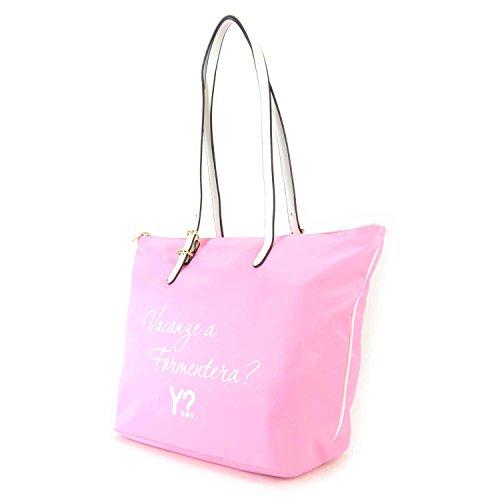Borsa Shopping media Y Not Linea Bali colore Rosa