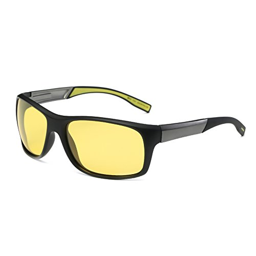 DONNA HD Polarized Night Vision Driving Glasses Enhance Clarity Anti Glare Wrap Around Sports Goggles - For Sensitive Eyes Best Sunglasses