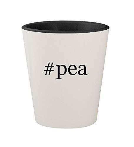 Price comparison product image #pea - Ceramic Hashtag White Outer & Black Inner 1.5oz Shot Glass