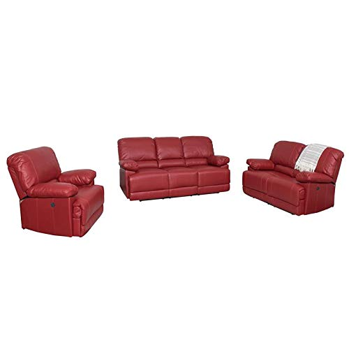 CorLiving LZY-352-Z1 Lea Collection Reclining Sofa Set Red