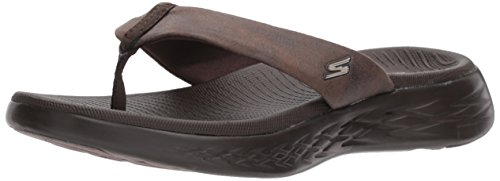 Skechers Performance Women's on-the-Go 600-Polished Flip-Flop, chocolate, 9 M ()