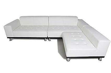 Phantom Sectional Leather Modern Sofa White