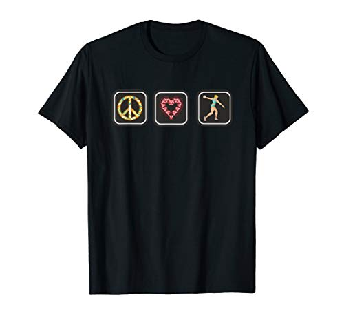 Women's Peace Love Discus T-shirt