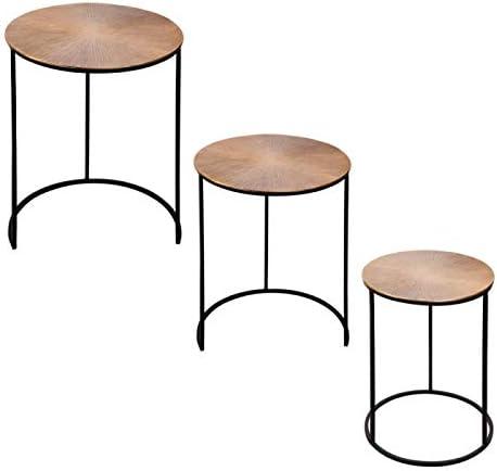 Set de 3 Tables 34 x 40 x 49 cm gigogne Soleil TABLE PASSION