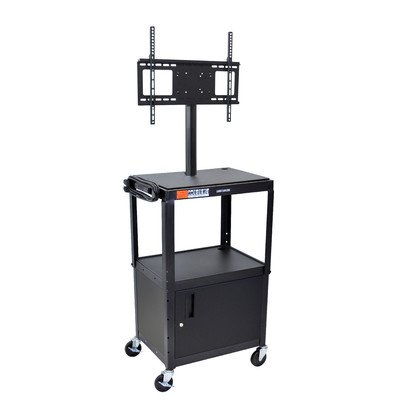 Luxor Multipurpose Adjustable Height Steel A/V Utility Cart