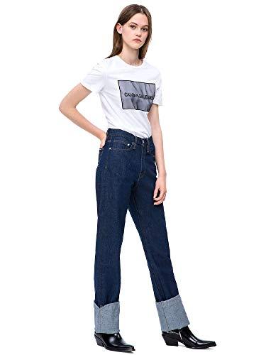 Femmes shirt Calvin T Blanc Klein J20j208606 TB7qA