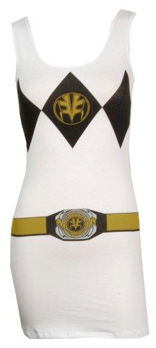 Power Rangers Dress (Power Rangers I Am White Ranger Tank Dress Adult Small)