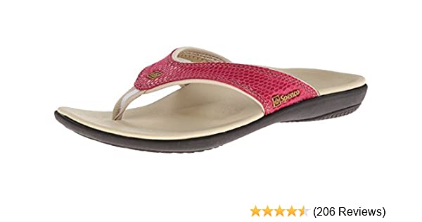 ed6fdd31a8d7 Amazon.com: Spenco Women's Yumi Snake Flip Flop: Shoes