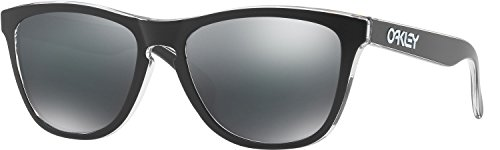 Oakley Men's Frogskins Non-Polarized Iridium Square Sunglasses, Eclipse Clear, 55 - Men For Sunglasses Oakley