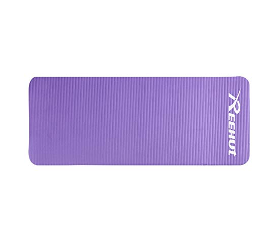 REEHUT Yoga Knee Pad, Elbow Pad Cushion Provides Extra Padding& Support for Knees, Wrists and Elbows, 15mm (5/8) Thick Mini Mat with Carrying Strap, for Yoga, Pilates, Floor Exercises Purple