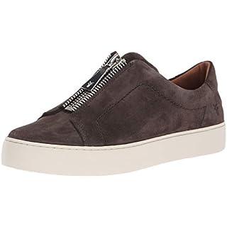 FRYE Women's Lena Zip Low Sneaker, grigio, 9.5 M US