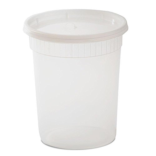 Plastic Quart (YW Plastic Soup/Food Container with Lids, 32 oz, 240 Piece)