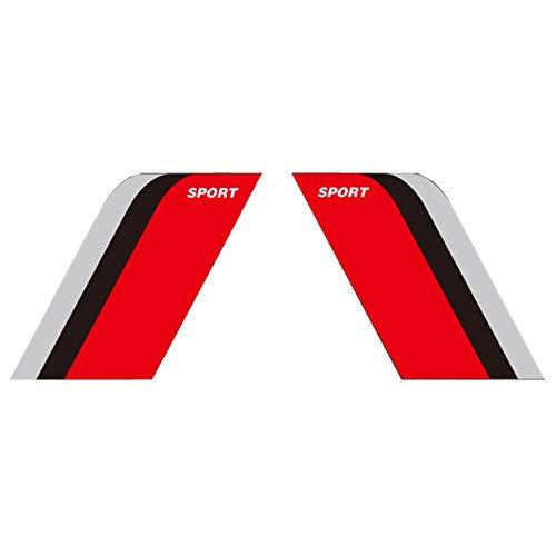 LLJSTAT Fender Stripes Hash Marks - Vinyl Decal Universal for Car Truck Sticker Racing Stripe 2PCS Decal Reflective Sticker 22CM15CM (Silver/Black/red) ()