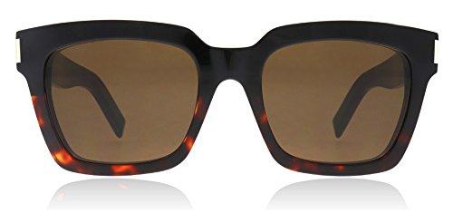 Saint Laurent BOLD 1 015 Black BOLD 1 Square Sunglasses Lens Category 3 Size - Bold Laurent Sunglasses 1 Saint
