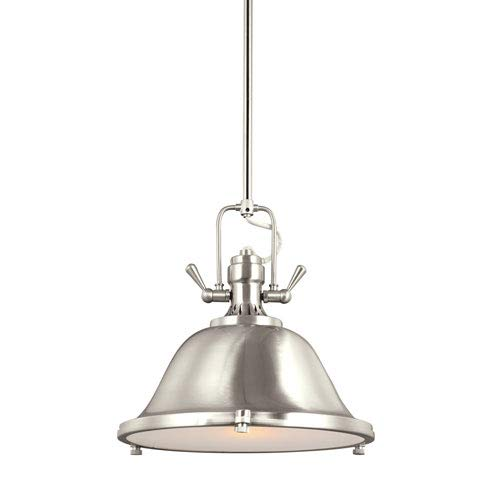 (251 First Afton Brushed Nickel LED Energy Star Pendant)